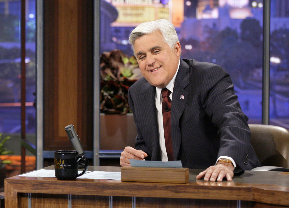 "Jay Leno hosts his last episode of ""The Tonight Show with Jay Leno"" on Thursday."