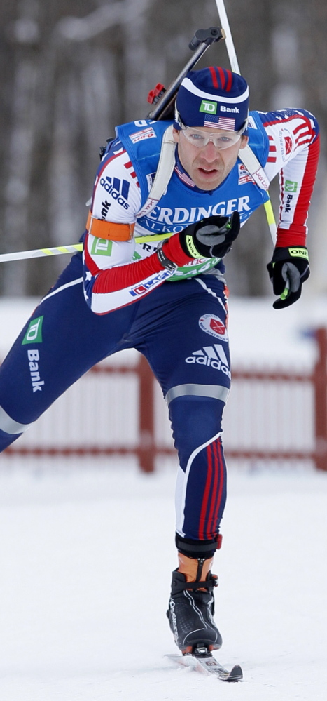 Lowell Bailey competes in the 2011 Biathlon World Cup in Presque Isle, a Maine Winter Sports Center event that boosted the local economy.