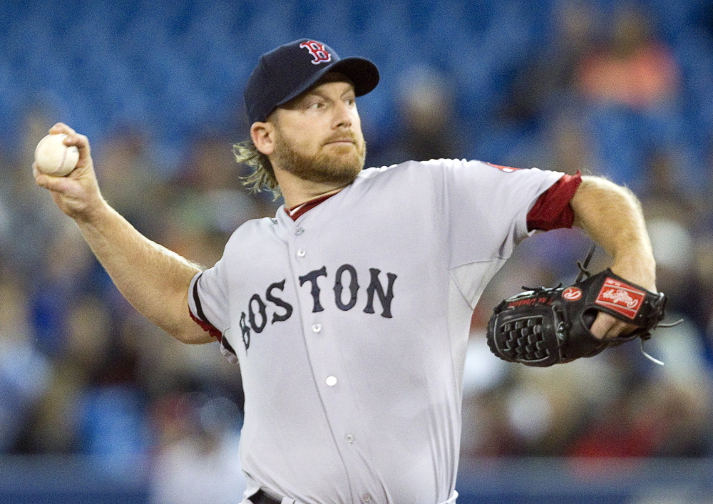 Boston Red Sox starting pitcher Ryan Dempster was 8-9 for the Red Sox last season, but was bumped to the bullpen in the playoffs. Dempster will not pitch for the Red Sox this season for physical reasons and to spend more time with his family.