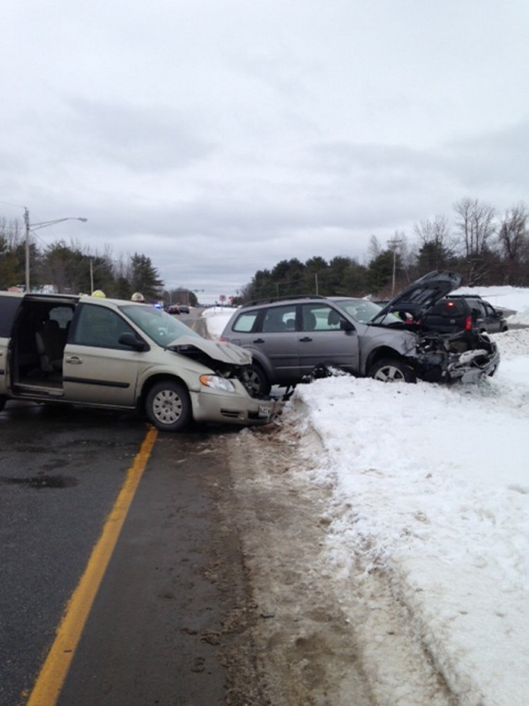 Accident: Two vehicles were totaled about 1:15 p.m. Wednesday on U.S. Route 202 in Winthrop.
