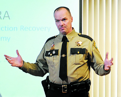 Unholy alliance: Kennebec County Sheriff Randall Liberty says most crime in Maine is driven by illegal drug use.
