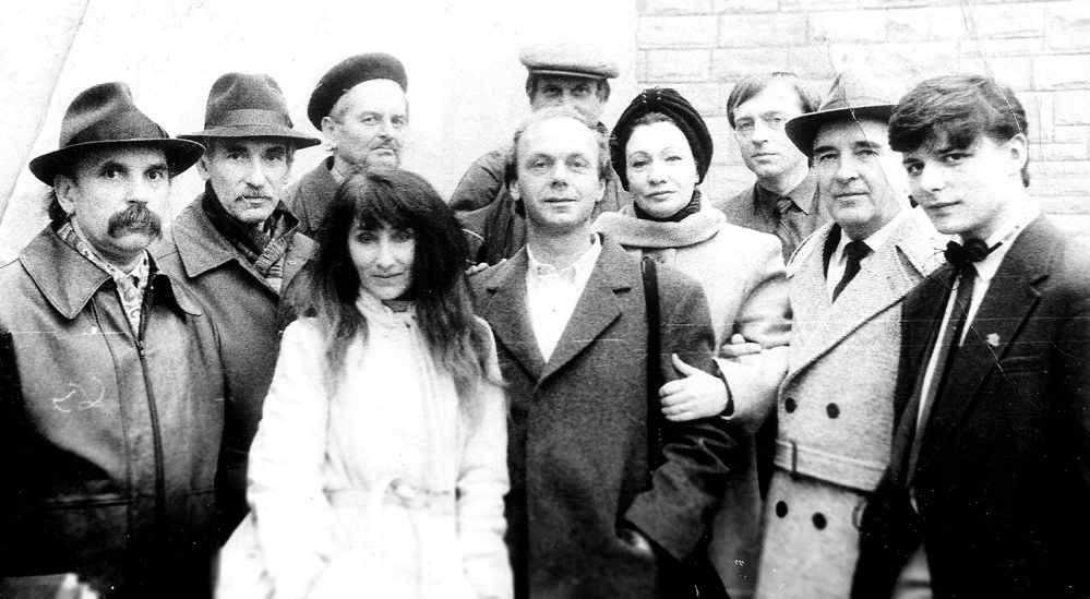 grassroots organizers: Members of the democratic movement called Ruhk, along with the author, center, in Ukraine in the 1990s.