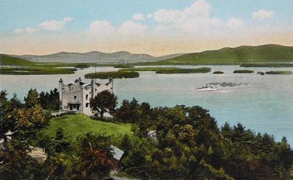 An undated postcard image of Kimball Castle on Lake Winnipesaukee in Gilford, N.H.