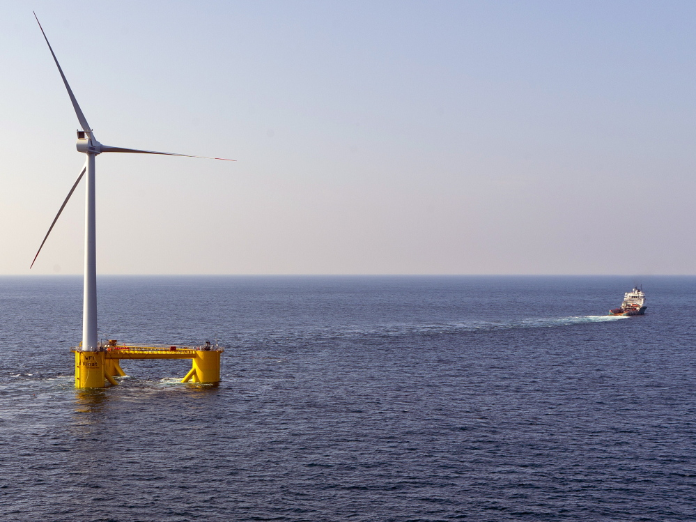 In 2011, Seattle-based Principle Power launched the world's second commercial-scale floating wind turbine, off the coast of Portugal. Now the company is proposing a larger demonstration project off Oregon, and is competing with a Maine prototype for $47 million in federal energy dollars.