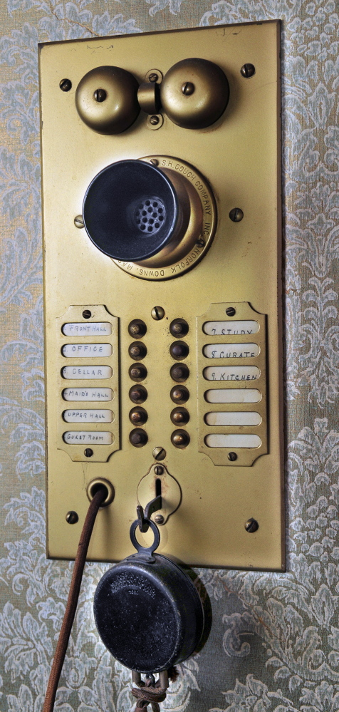 NEW BUSINESS: Zardus Art of Massage and Wellness Spa in Gardiner still has some antique features, like this intercom from when the building was the rectory for St. Joseph's Catholic Church.