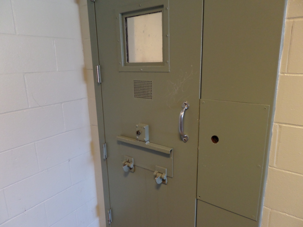 Two inmates were able to jam their cell doors at the Cumberland County Jail in Portland and meet up to have sex last weekend, officials said.