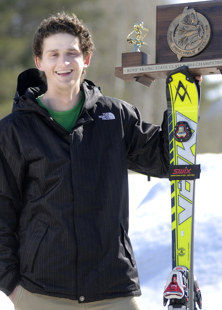 Staff photo by Andy Molloy Maranacook Community High School senior Alec Daigle is the Kennebec Journal's mens nordic skier of the year.