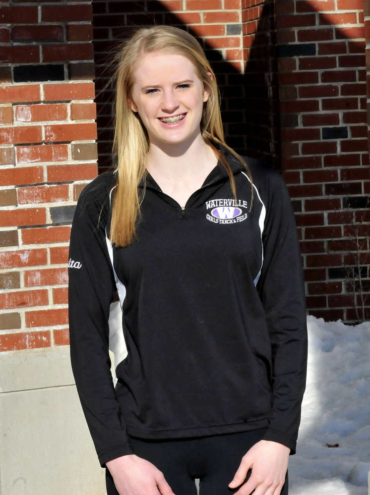Staff photo by David Leaming Sarah Shoulta is Morning Sentinel Girls Track Athlete of the Year.