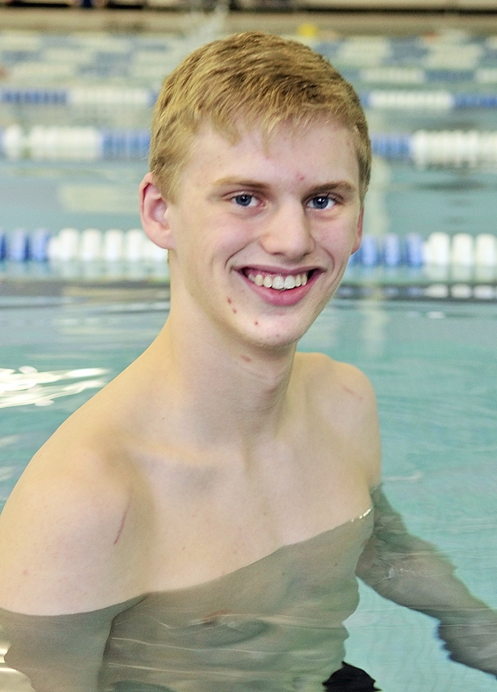 YOUNG GUN: Cony's Noah Aube is the Kennebc Journal Boys Swimmer of the Year.