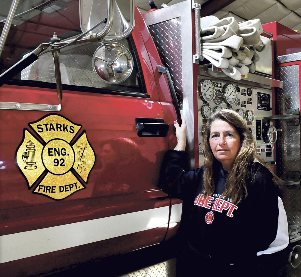 HELP WANTED: Starks Fire Chief Julie Costigan is hoping more residents will step up to volunteer for the department on Monday.