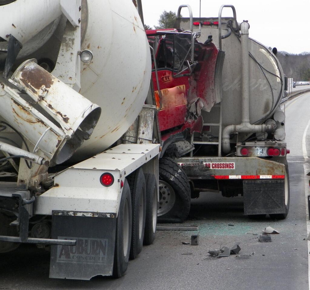This crash blocked traffic on the Maine Turnpike in Lewiston for hours Thursday afternoon.