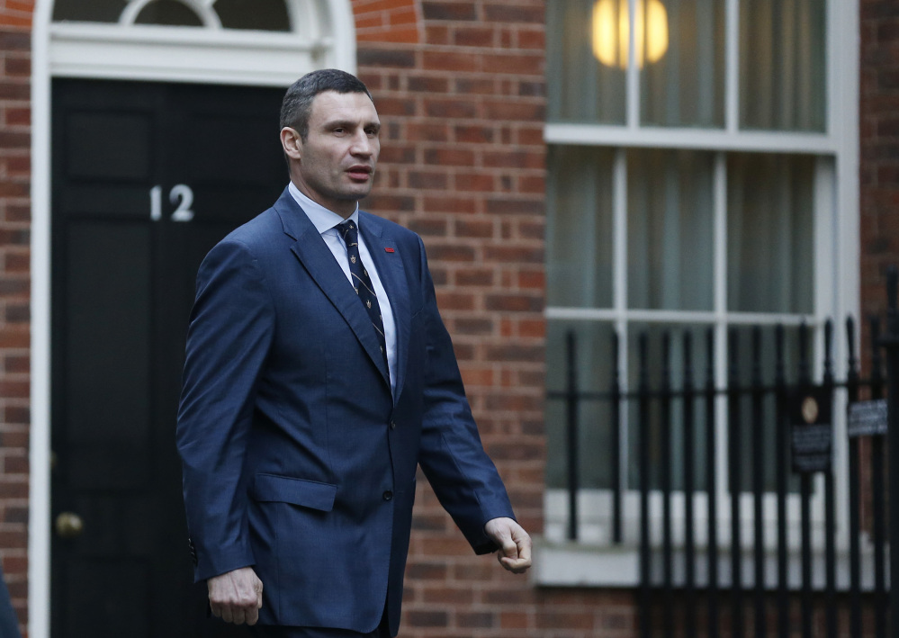 Vitali Klitschko, leader of the UDAR (Ukrainian Democratic Alliance for Reform) party, decides not to run for president, but plans to run for mayor of the capital city, Kiev.