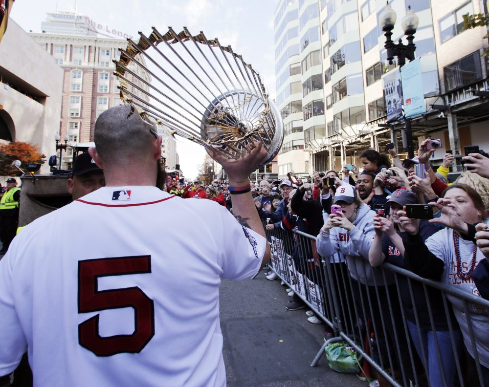 The baseball season is indeed a marathon, as Jonny Gomes might have contemplated during last year's victory parade while he carried the 2013 World Series trophy and a team jersey to the finish line of the Boston Marathon, in honor of the many victims of the terrorist bombings.