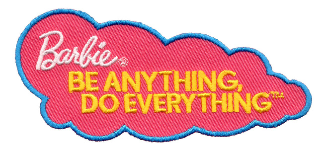 The Barbie participation patch is the first Girl Scout uniform patch with corporate sponsorship.