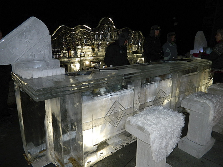 Ice bar at the Samoset Resort in Rockport
