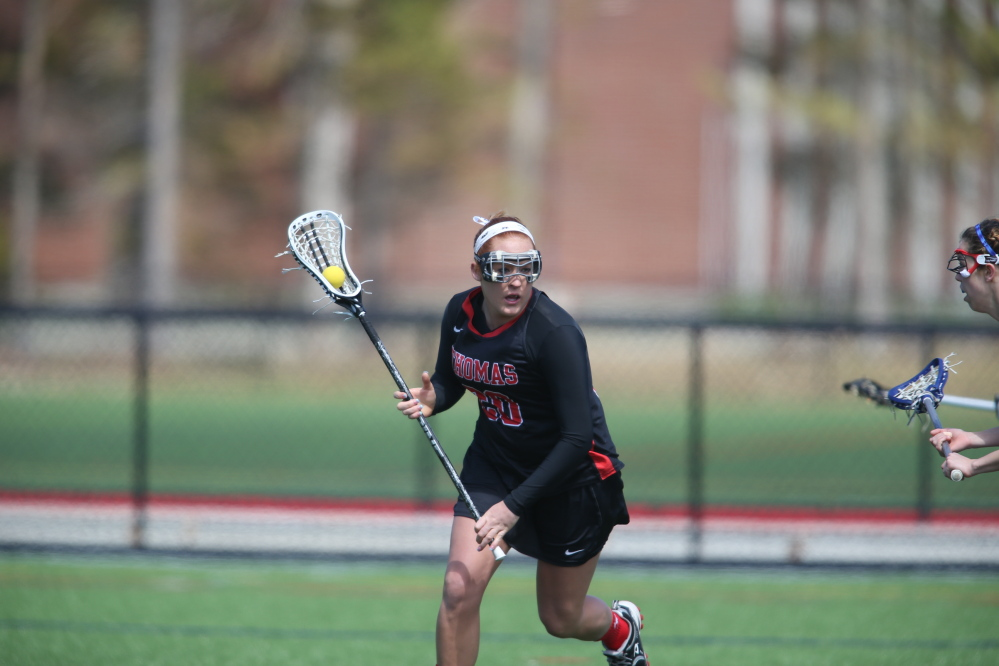 CONTRIBUTING RIGHT AWAY: Messalonskee graduate Miranda Tinsman has 33 points, on 26 goals and seven assists in eight games to lead the Terriers.