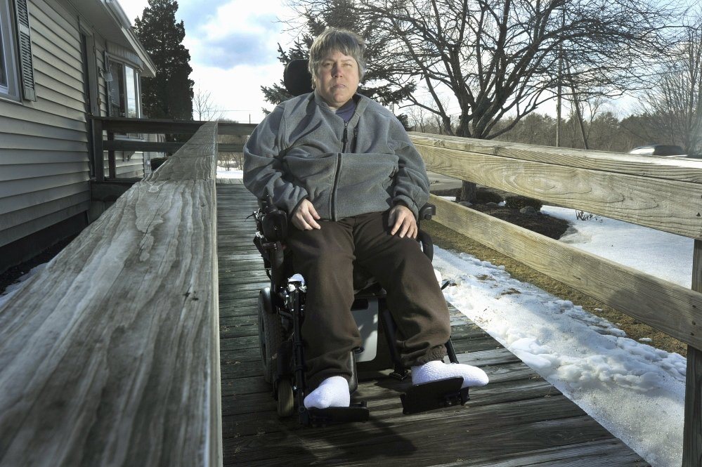 Maureen Wood, who uses a wheelchair, said in March that her MaineCare rides have been extremely inconsistent since last year, and she's still missing many rides, which is a detriment to her health.