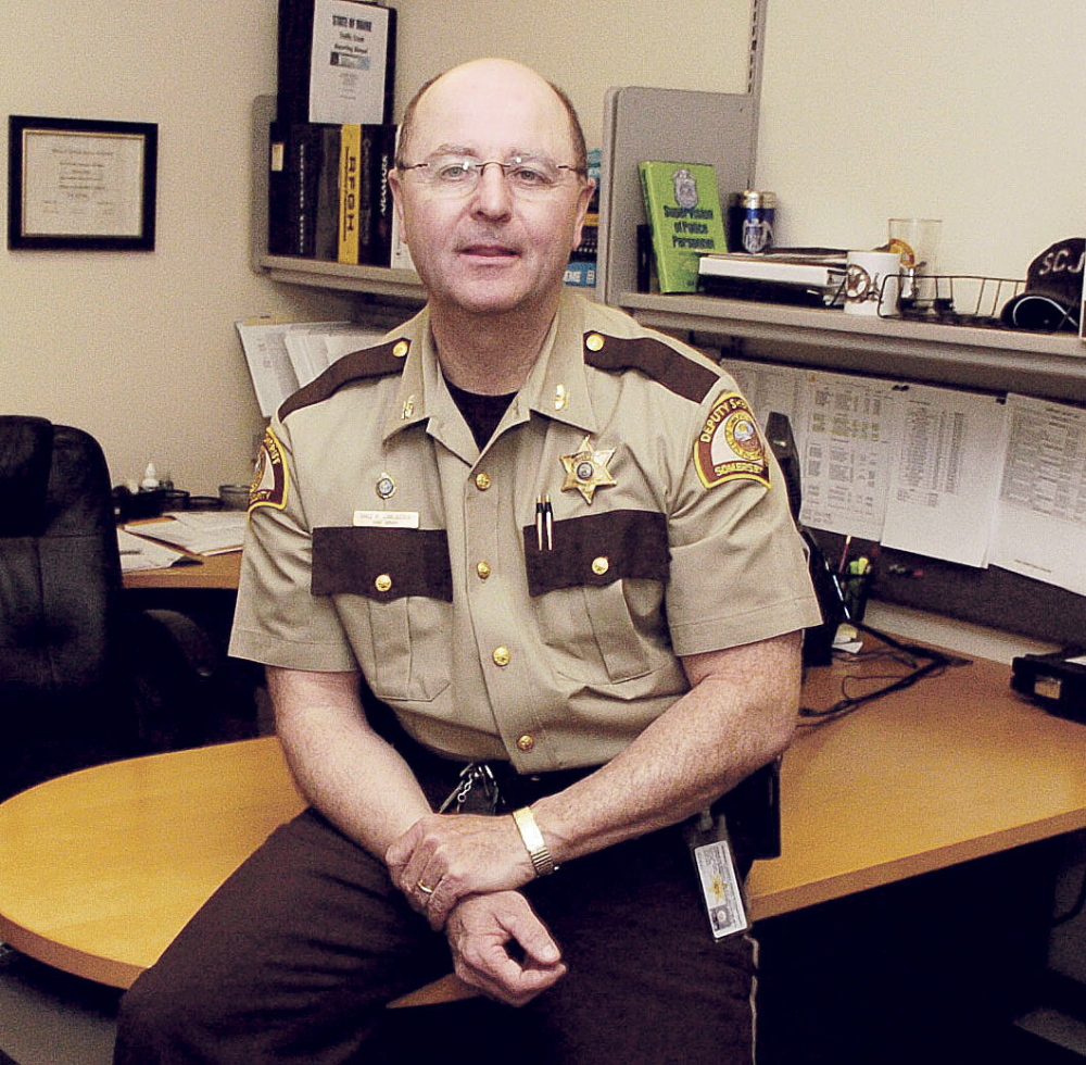 IN THE RUNNING: Somerset County Sheriff Department Chief Deputy Dale Lancaster, seen at his desk Wednesday, announced on Wednesday that he is running for sheriff. He is the only candidate to file so far.