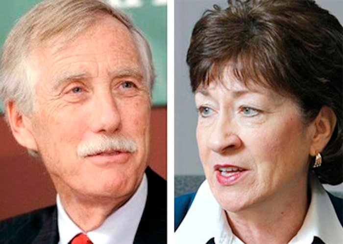 U.S. Sens. Angus King and Susan Collins
