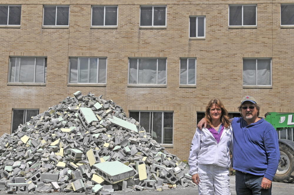 NEW LIFE: Heidi and Herbert Goudreau are renovating a former convent off Halifax Street in Winslow as part of a $3.7 million renovation that is expected to be completed by October.