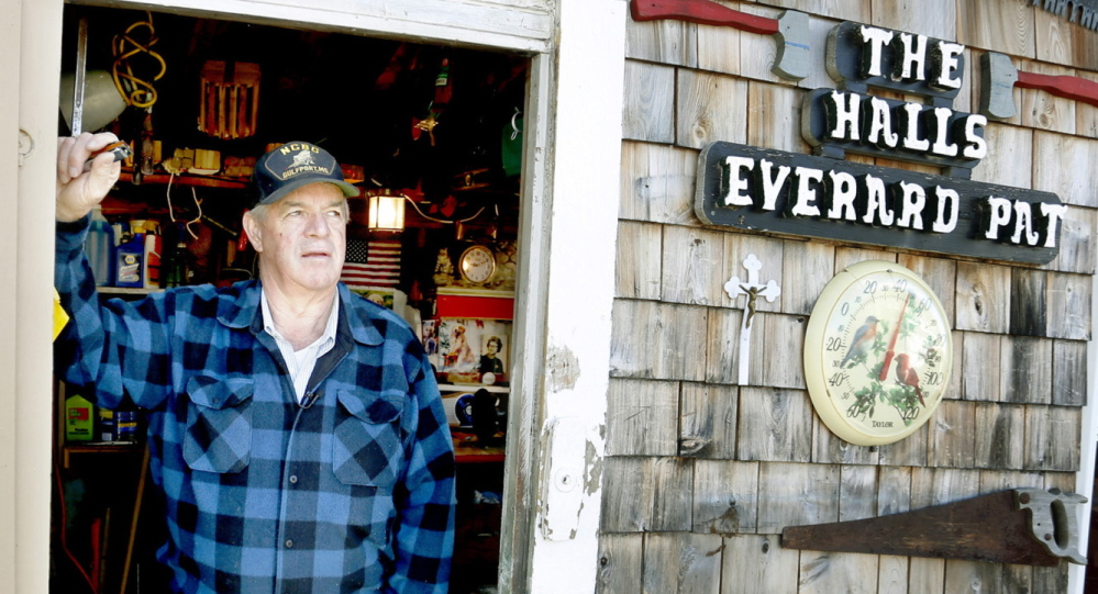 """Everard Hall lives in Milbridge with his wife, Pat. """"Everybody born on this earth has got a God-given talent,"""" Hall says. """"I was lucky. I was born with two talents. I play harmonica, and I dig graves."""""""