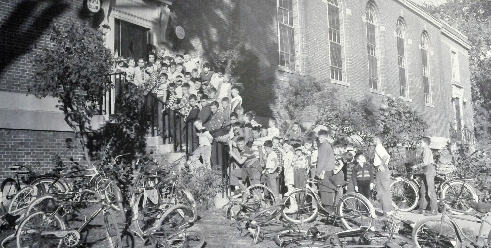 The way it was: A historical photo of the second youth center, the former Colby College recreation center on Main Street in Waterville in the 1950s.