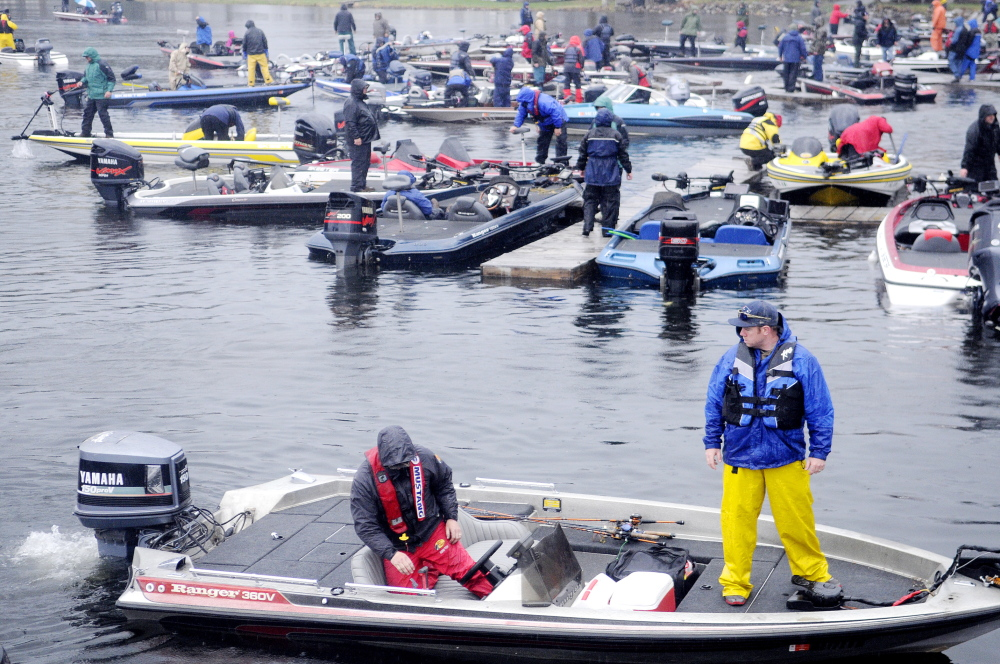 More boats: Over a hundred boats competed in the Special Olympics Bass Tourney on Cobbossee Lake on Sunday. The Wess family, who own Lakeside Motel, Cabins and Marina in Winthrop, started the fishing derby 25 years ago.