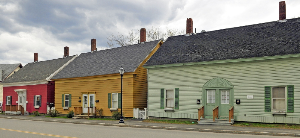 Mill Houses: This photo taken on Friday, shows the Bond Street Historic District that was recently added to the nation Register of Historic Places.