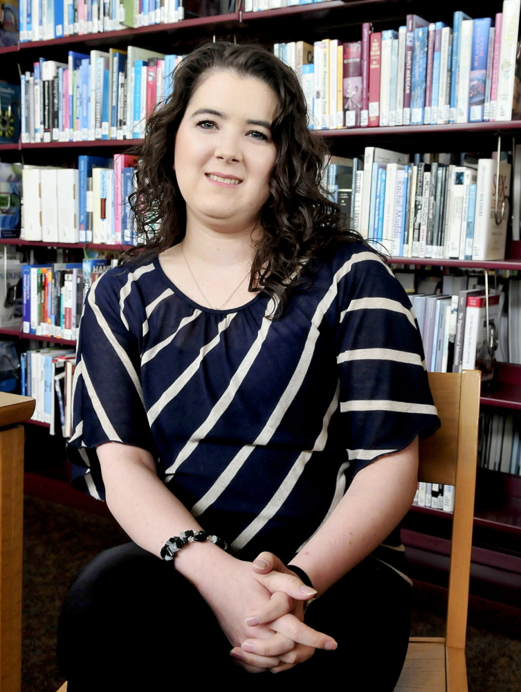 THE GRADUATE: Kennebec Valley Community College student Jessica Abrams of Winslow will graduate Saturday with a nursing degree. Abrams battled breast cancer while studying for her degree.