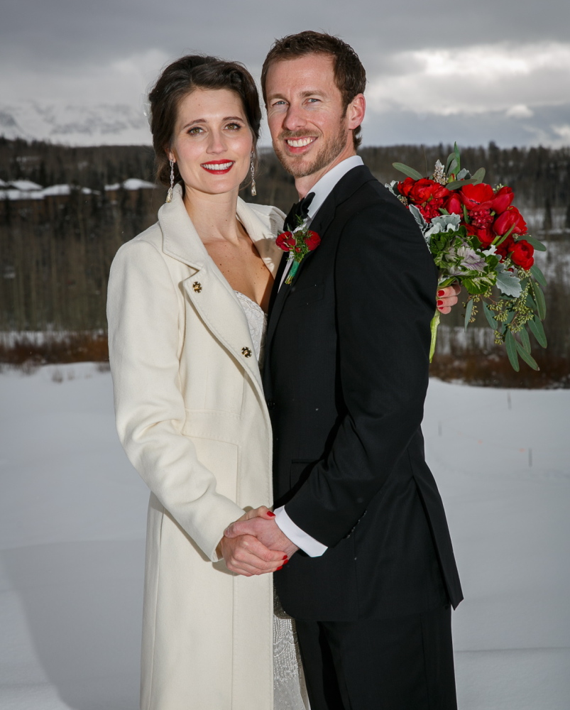 Berkeley and Andy's winter wedding at the Peaks Spa and Resort in Telluride, CO.