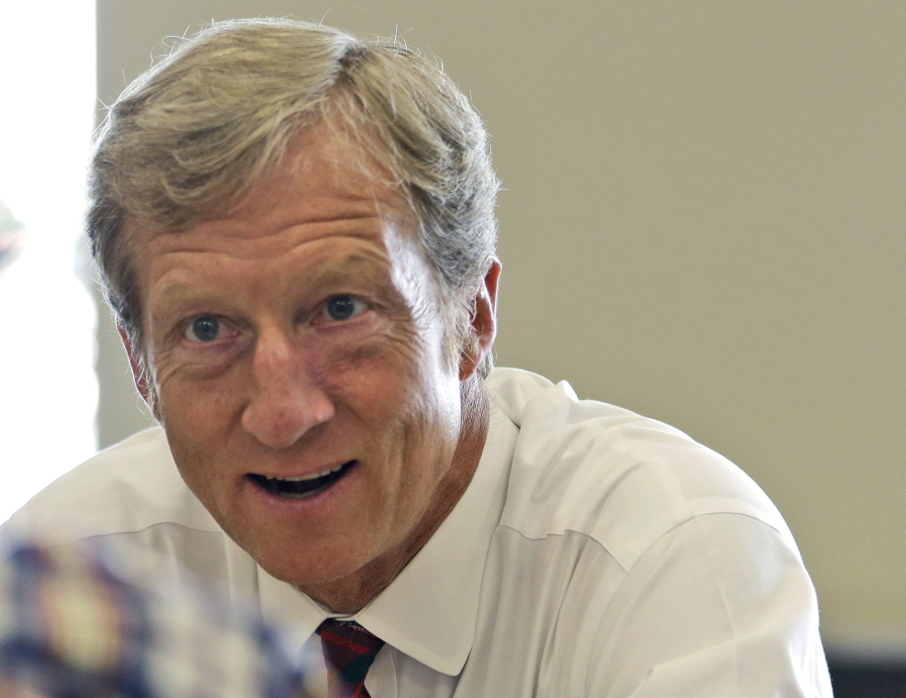 Businessman Tom Steyer has contributed at least $50 million to the super PAC NextGen Climate.
