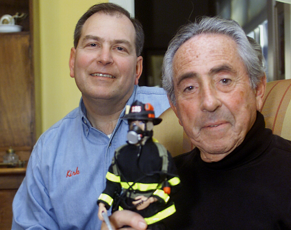 Donald Levine, right, was the Hasbro executive credited as the father of G.I. Joe, the world's first action figure. He died of cancer early Thursday in Rhode Island.