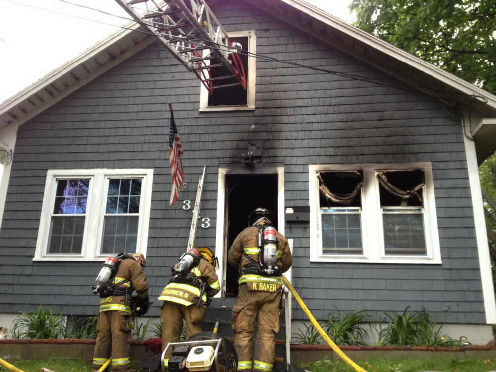 Fire response: Firefighters respond to a fire at a single-family Augusta home Wednesday. Firefighters from Augusta, Togus, Winthrop, Gardiner, Hallowell and Chelsea responded to the blaze reported just before 7 a.m., according to firefighters.