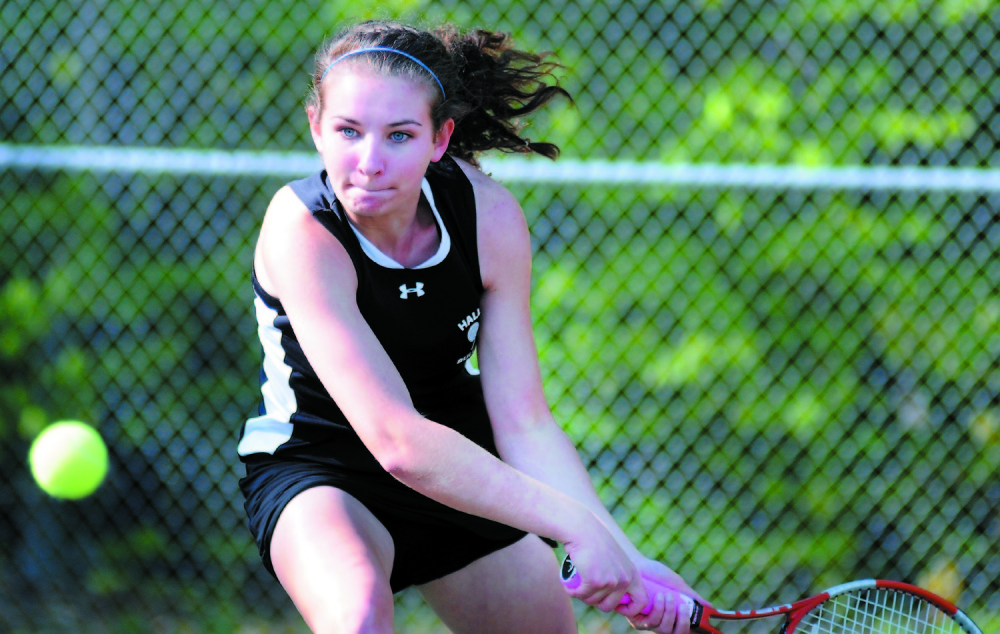 RETURN: Hall-Dale High School's Clio Barr, shown here in 2013, has earned a first-round bye in the tournament.
