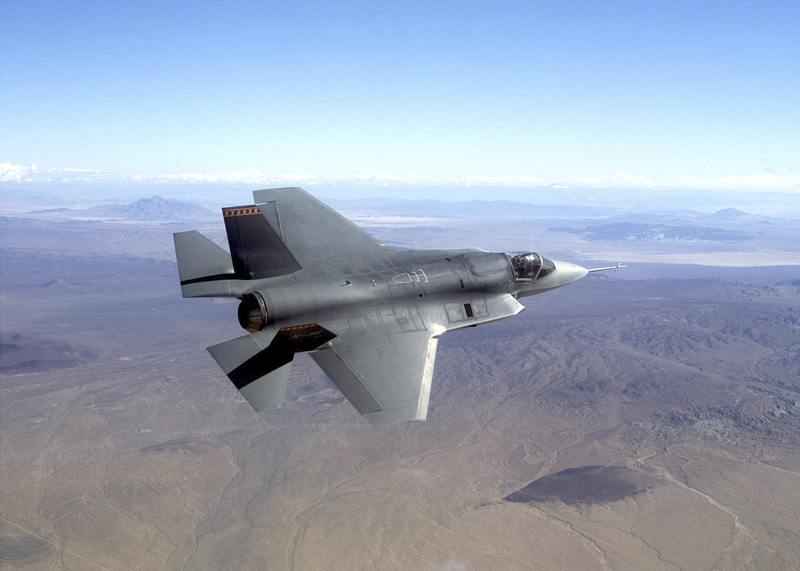 This photo provided by Northrop Grumman Corp. shows a pre-production model of an F-35 Joint Strike Fighter.