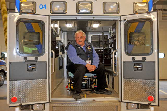 ORGANIZER: Jeff Foster, a paramedic and education coordinator at Delta Ambulance, is organizing a group of volunteer EMTs in the Vassalboro area to address the need for services in the community.