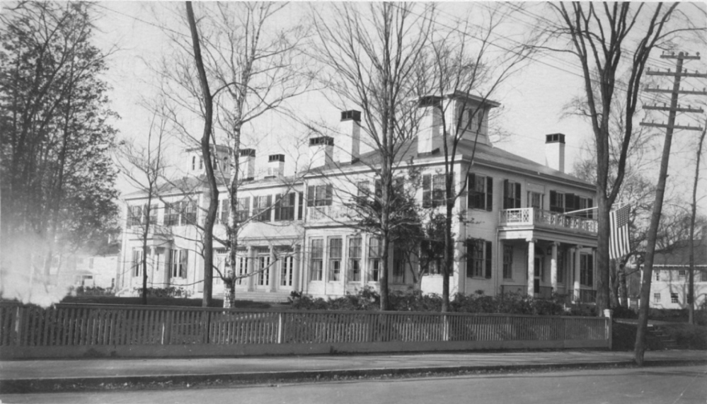 House makeover: A postcard image shows the Blaine House shortly after its 1919 renovation by the state as a home for Maine governors and their families. It's among the earliest photos of the Blaine House after the renovation was completed.
