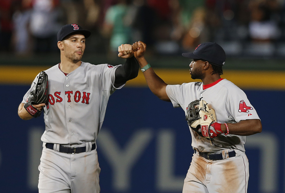 HOMECOMING: Boston Red Sox left fielder Grady Sizemore played for the Cleveland Indians for eight seasons before moving on as a free agent. Sizemore returns to Cleveland this week, as the Red Sox play the Indians.