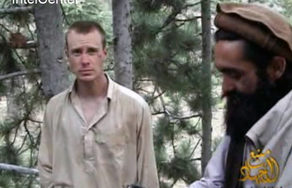 Sgt. Bowe Bergdahl, left, is shown in Taliban captivity during 2010. The United States mentioned a possible prison swap to the Taliban as early as 2011. An unnamed source said the impending U.S. withdrawal from Afghanistan prompted the recent trade.