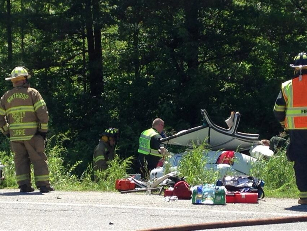 Serious injury crash by TJ'S Pizzeria on U.S. Route 202 in Monmouth.