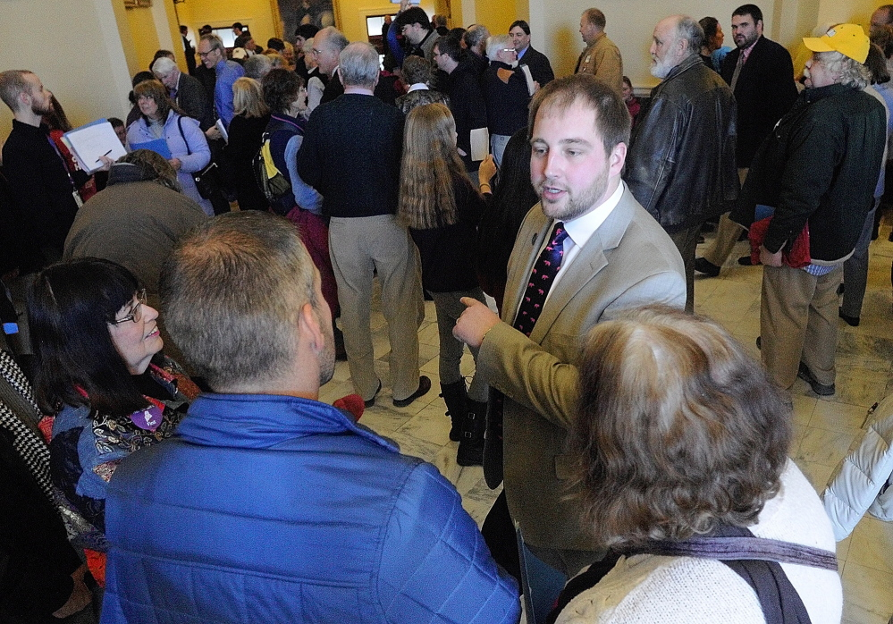 Rep. Matt Pouliot, R-Augusta, shown at the State House in 2014, grew up in Augusta and said he was surprised to see Augusta at the top of a list of dangerous places in Maine.