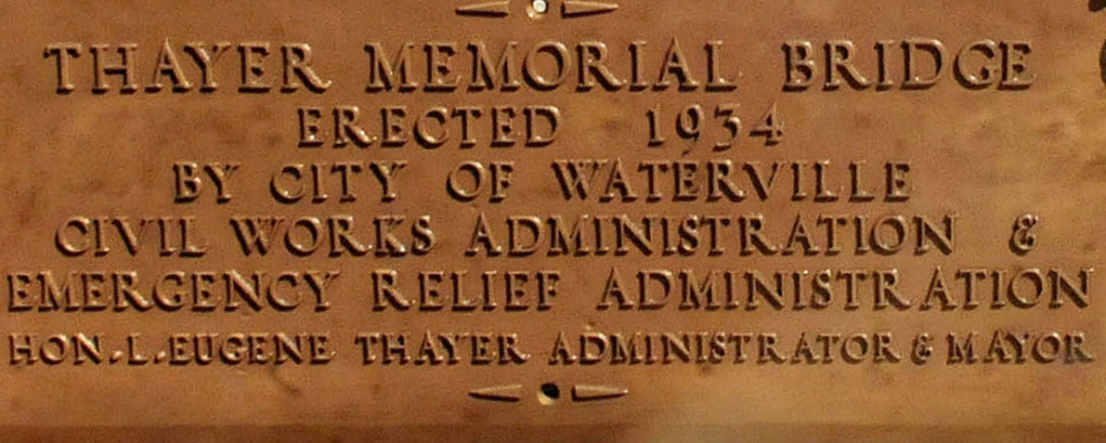 The plaque, now cleaned up.