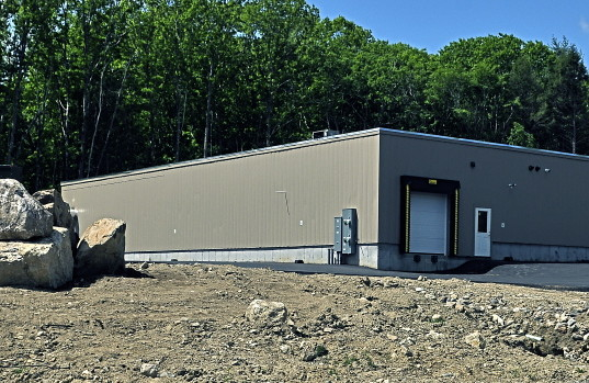 The new Central Maine Meats slaughterhouse in Gardiner's Libby Hill Business Park is seen on Friday.