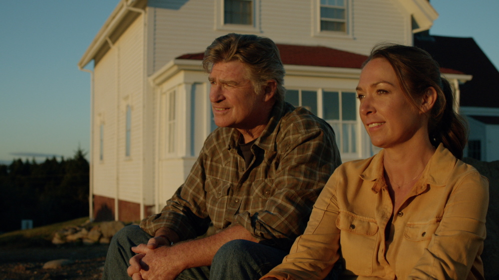 """Treat Williams, Elizabeth Marvel act in a scene from """"The Congressman,"""" which was shot mostly on Monhegan Island. It was written and co-directed by former congressman and part-time Monhegan resident Robert Mrazek."""