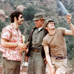 """From left are Elliot Gould, Robert Duvall and Donald Sutherland in a scene from """"M*A*S*H."""""""