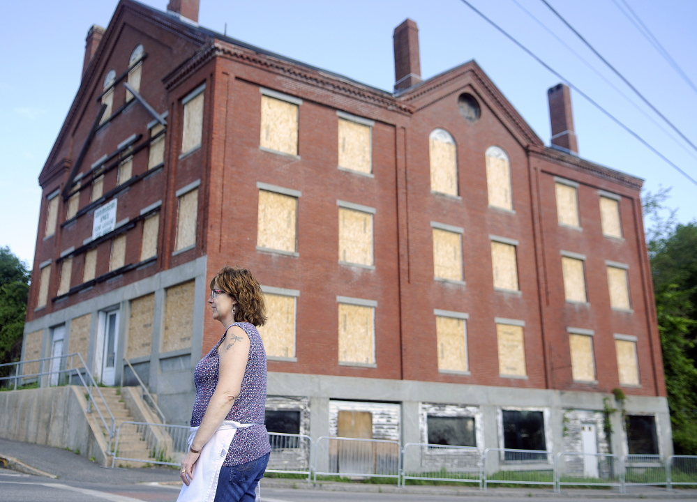 Barbara Bowley said Thursday the Hathorn Block in Richmond is a beautiful building with lots of potential. Bowley owns Annabella's Bakery & Cafe with her daughter, Stacy LaBombard, which is across the street from the neglected structure.