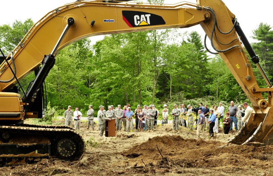Maine National Guard leaders broke ground on the future site of the new headquarters near the Maine Veterans Memorial Cemetery off Civic Center Drive during a ceremony Thursday morning.