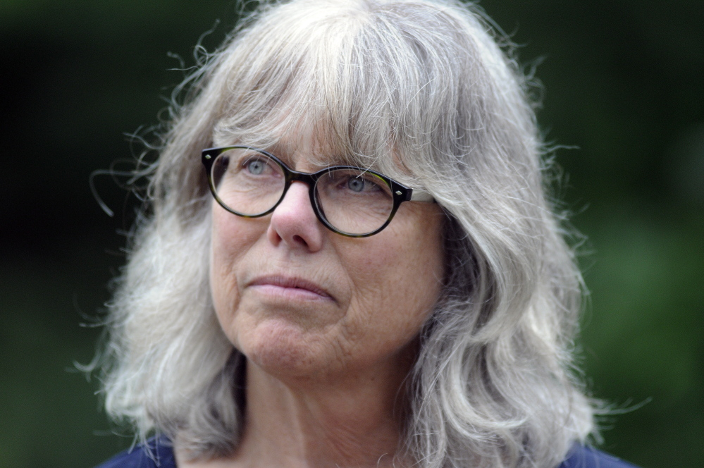 Theresa Kerchner, executive director of the Kennebec Land Trust, announced at the annual meeting on Sunday in Fayette that the organization would borrow money to conserve Howard Hill acreage in Augusta.