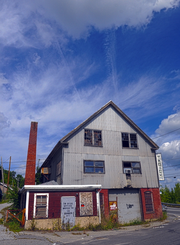 The potential redevelopment of the blighted former T.W. Dick Co. properties near Cobbossee Stream in Gardiner will be discussed by city council Wednesday.