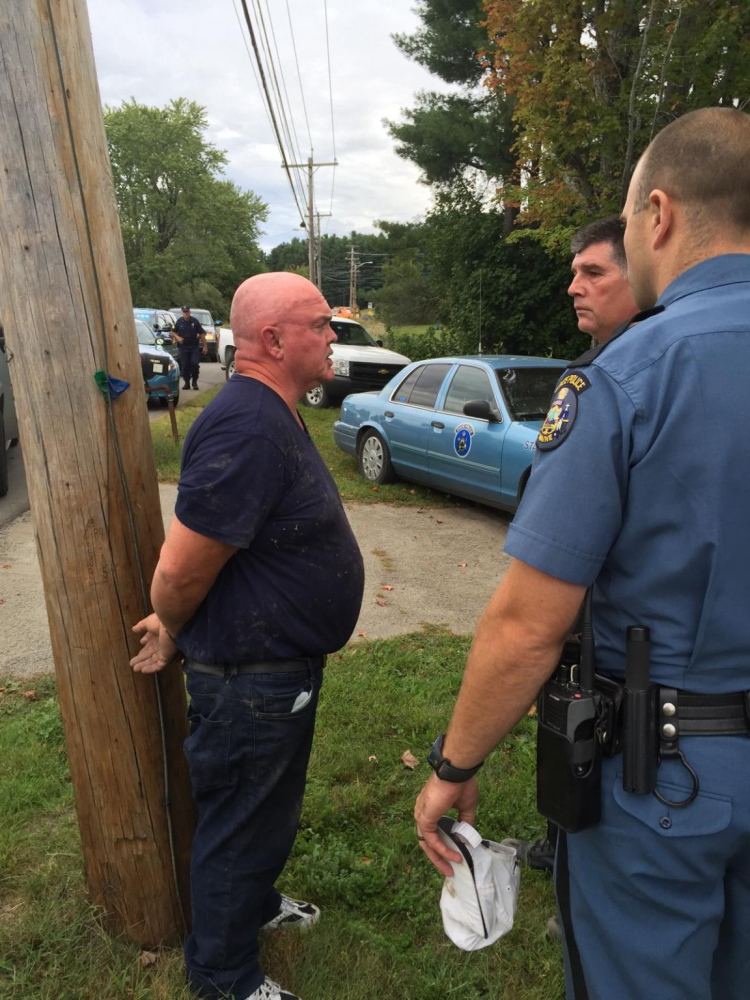 John J. Gagnon, 56, was taken into custody by state police following a crash on Leighton Road and is facing a variety of charges.